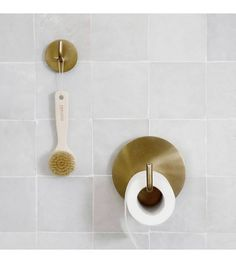 Toilet paper holder Text by House Doctor. Text from House Doctor is a different and modern support f House Doctor, Modern Toilet Paper Holders, Brass Toilet Paper Holder, Roll Holder, Toilet Brush, Towel Hooks, Custom Rugs, Furniture Sale, Messing