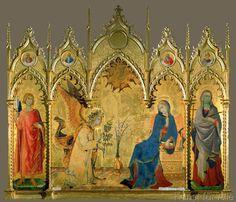 Simone Martini - Verkündigung an Maria / Die Heiligen Ansanus und Julitta