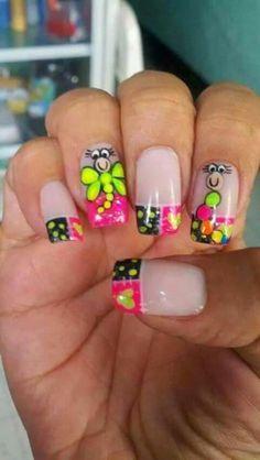 Libelula Spring Nails, Summer Nails, Back To School Nails, Cute Nail Art, Toe Nails, Nail Designs, Nailart, Swag, Hair Beauty