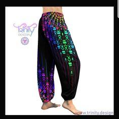 Beautiful ❤️😍 Psytrance Clothing, Festival Outfits, Festival Clothing, Edm Outfits, Harem Pants, Psychedelic, Boho, Rave Clothing, Ems