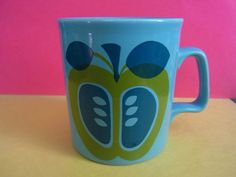 Retro Staffordshire potteries Ltd mug 1960s 1970s Apple