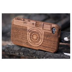 iPhone 4 Natural Walnut Wood Case M1 Camera by Signimade