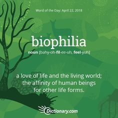 Celebrate #EarthDay every day. Today's word of the day is biophilia. Read the full definition, example sentences, and origin using the…