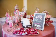 The ever growing in popularity candy bar.  Have a take out bag for your guests and let them fill up.  We did this for my wedding back in 2009.  I don't like to brag but we probably started this whole trend...or so I like to think.