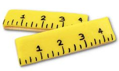 Simple & Fun Ruler Cookies For Back To School Treats