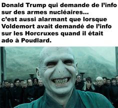 Donald Trump et Voldemort Harry Potter Film, Harry Potter World, Harry Potter Memes, Hermione, Funny Riddles With Answers, Saga, Movies And Series, Geek Humor, Voldemort
