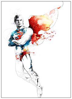 Superman (Superboy) floating Art