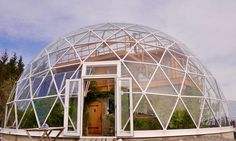 Family Lives in the Arctic Circle by Building Cob House in a Solar Geodesic Dome. nature house hjertefolger arctic circle
