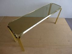 #Smoked #Glass #Brass #Console #Table #Midcentury #Modern #Vintage #Design #Furniture #DenMøbler