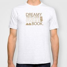 beauty and the beast... with her nose stuck in a book quote T-shirt by studiomarshallarts - $22.00