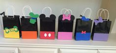 Mickey Mouse Clubhouse Favor Bags, Mickey Mouse Clubhouse Treat Bags, Mickey Mouse Favor Bags, Mickey Mouse Treat Bags