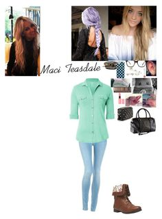 """Meeting one direction for the WWAT with Lou-Maci"" by rainbow22xd ❤ liked on Polyvore featuring NAKAMOL, H&M, Wet Seal, Topshop, Palma, Hudson Jeans, Majestic, NYX, Urban Decay and Anya Hindmarch"