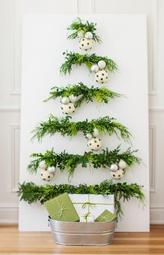 Looking for Christmas decoration for small space. Then you should definetly put up a wall Christmas Tree. Here are best DIY Wall Christmas tree ideas. Wall Christmas Tree, Noel Christmas, Christmas 2017, All Things Christmas, Winter Christmas, Christmas Tree Ornaments, Rustic Christmas, Xmas Trees, Whimsical Christmas