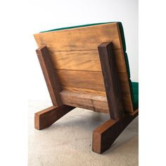 """""""Rio Manso"""" armchair has a solid yet visually light, rustic structure with a gracefully padded seat and back. Motta designed this line of furniture using demolition wood, plentiful in urban centers like São Paulo. Available with upholstered cushion. Suitable for both indoor and outdoor spaces."""