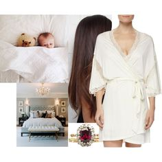 Spending a lazy day with Ethan in bed while Fred is at work by marywindsor on Polyvore featuring Eberjey