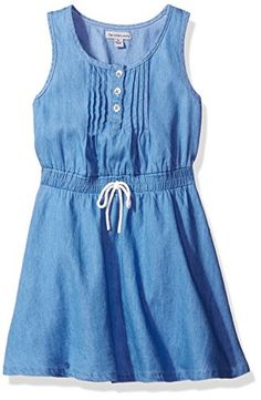 Calvin Klein Big Girls Pintuck Dress Chambray XL16 >>> Be sure to check out this awesome product.Note:It is affiliate link to Amazon. #GirlsDressUp