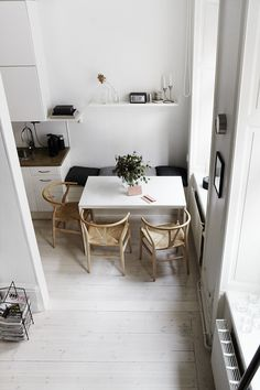 small cute kitchen eating space