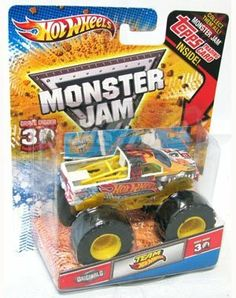 2012 Hot Wheels Monster Jam Team Hot Wheels 1/64 with Topps Trading Card by Mattel. $11.95. 2012 Hot Wheels Monster Jam 1/64 Team Hot Wheels. 30th Anniversary. Very hard to find. Topps Trading Card inside. HOT WHEELS MONSTER JAM 1/64 SCALE BACKDRAFT MONSTER TRUCK WITH TOPPS TRADED CARD IN BLISTER PACK