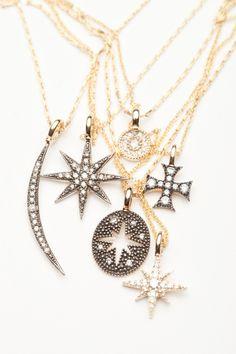 Mizuki Diamond Charm Necklaces  I want for my anniversary:)