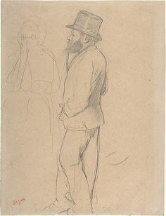 Edouard Manet at the Races 1865.  Edgar Degas  (French, Paris 1834–1917 Paris)