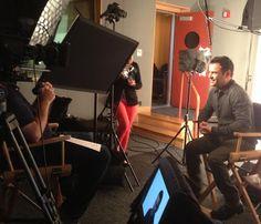 Ya se está preparando el material adicional del DVD de Catching Fire  Acabo de hacer la entrevista para el material adicional del DVD de #CatchingFire