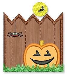 Spooky Fence App 3 Sizes | Halloween | Machine Embroidery Designs | SWAKembroidery.com Lynnie Pinnie