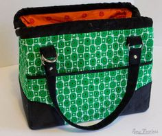 This pattern will take your bag-making skills to the next level when you learn how to give structure and strength to your custom-made bags with various interlinings, how to create a firm bag bottom, and discover a simple way to make crisp sturdy bag handles.