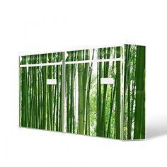 Burg-Wächter Briefkastenanlage, Design Bild Postkasten, Stahlblech weiß, MAIL 5877 W 72x32x10cm mit Motiv Bambus
