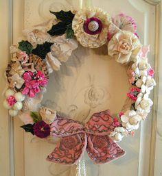 Vintage Flower Wreath by andrea singarella, via Flickr