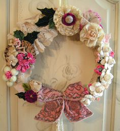 Vintage Flower Wreath by andrea singarella, via Flickr