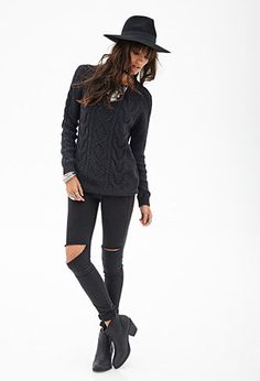 Cable Knit Sweater | FOREVER 21 - 2055879165