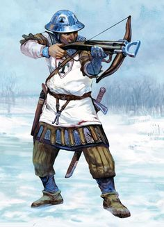 Livonian crossbowman during the Northern Crusade