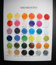 memento color chart