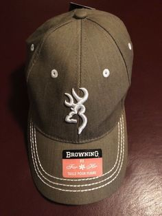 NEW with tags - Browning For Her Brown  amp  White Hunting Baseball Trucker  Cap! c844c80e95d1