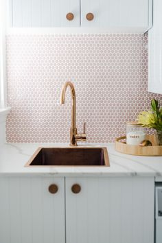 Get the look: A Rose Gold Goose Neck Kitchen Mixer and Brushed Copper Laundry Sink. Laundry Room Design, Laundry In Bathroom, Kitchen Design, Kitchen Ideas, Home Decor Trends, Home Decor Inspiration, Bathroom Inspiration, Bathroom Ideas, Interior Exterior