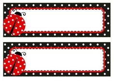 Set includes 3 sets of name tags and labels. - Red polka dot name tags and labels - Black polka dot name tags and labels - Green polka dot name tags and labels Can be mixed and matched. Perfect for ladybug themed classroom. Classroom Name Tags, Classroom Themes, Ladybug Crafts, Ladybug Party, Name Tag Templates, Nametags For Kids, Tarjetas Diy, Boarders And Frames, Kid Names