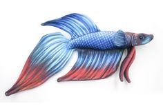 Realistic Betta Fish Stuffed Animal, Plush Toy, Plushie - Fleece