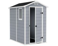 Walmart Trends: Keter Manor x Resin Storage Shed, All-Weather Plastic Outdoor Storage, Gray/White