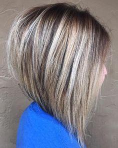 Voluminous Inverted Bob for Straight Hair – hair cut ideas Modern Bob Hairstyles, Virtual Hairstyles, Party Hairstyles, Hairstyles Haircuts, Wedding Hairstyles, Pixie Haircuts, Medium Hairstyles, Funny Hairstyles, Celebrity Hairstyles
