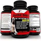 Insane Burn Fat Burner: Muscle Preserving Thermogenic Fat Burner Supplement for Men; Increase Weight Loss Energy Metablolism and Mental Focus 60 Capsules