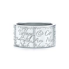 Tiffany Notes ring in sterling silver, wide. Size 9 I would die! I want this for Christmas!