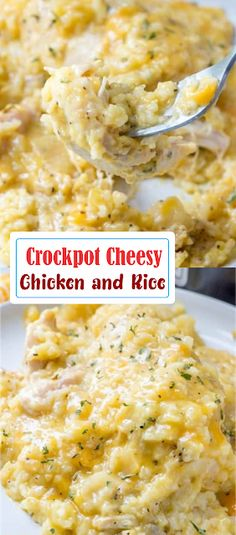 Crockpot Cheesy Chicken and Rice | Show You Recipes