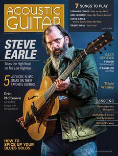Acoustic Guitar magazine, issue no. featuring Steve Earle on the cover. Acoustic Guitar Magazine, Steve Earle, Brooke Shields, Hunter S, Music Stuff, Ukulele, Magazine Covers, Festivals, Singers