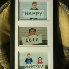 My kids Grandparents 40th Anniversary Is this year. Good gift idea