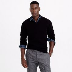 J.Crew - Lambswool V-neck sweater