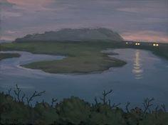 California Painter Tony Peters - Torrey Pines Nocturne
