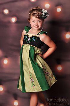 Frozen Anna Dress, Everyday Princess, Anna's Coronation Day Dress inspired by Disney's Princess Anna, sizes girls, girls Disney Outfits, Girl Outfits, Disney Costumes, Disney Fashion, Ruffle Dress, I Dress, Dress Shoes, Shoes Heels, Anna Dress Frozen