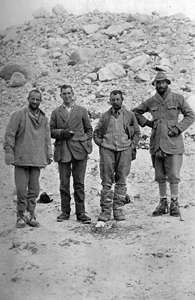British Expedition Everest 1922. from left to right : Morshead, Mallory, Somervell, Norton