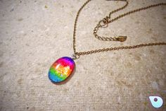 Rainbow necklace, Nail polish jewelry, Nail polish necklace, Pride jewelry, Rainbow Jewelry, Boho necklace, Pride necklace, Glitter Jewelry by CervelleDoiseau on Etsy