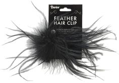 Ostrich Feather Hair Clip, Black